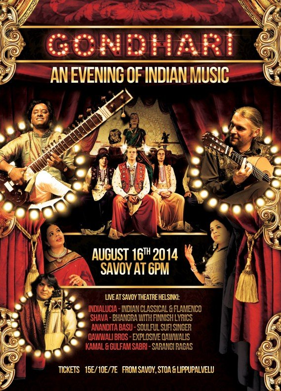 An Evening of Indian Music at the Savoy Theatre, Helsinki